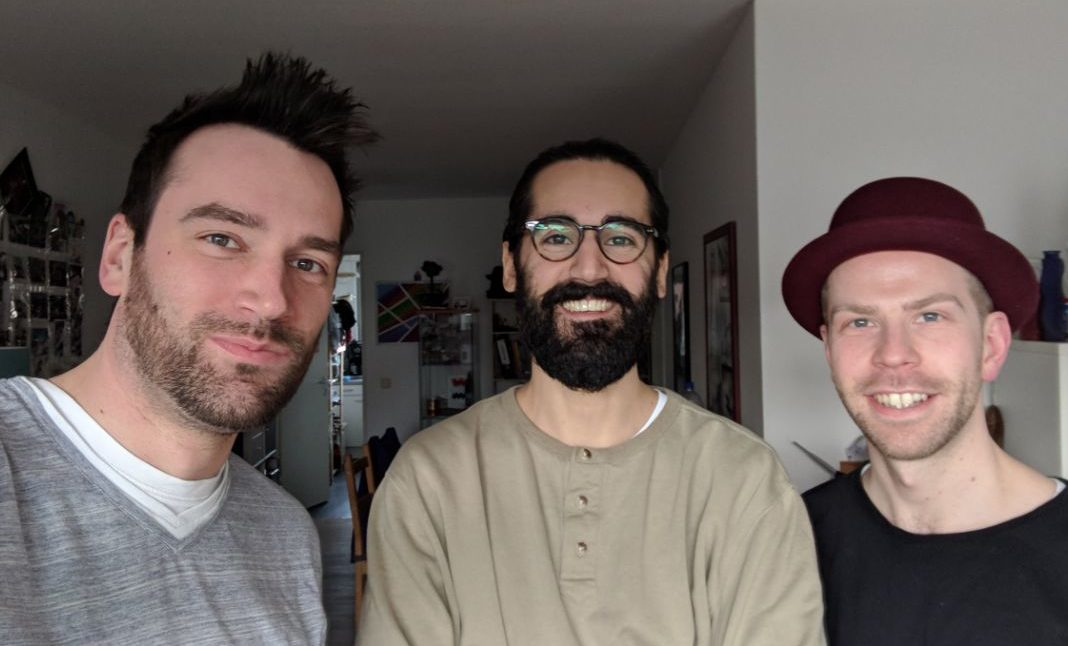 Mauro zu Gast bei Sebi (links) und Toni (rechts)